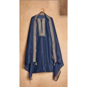 Designer party wear pure cotton lawn plazzo suit in Blue color ROT9491111731