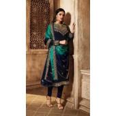 Designer Georgette salwar suit in Blue color ROTLT3903
