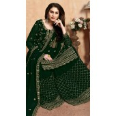 Embroidered Green Wedding Palazzo Suit SURDA104599401