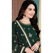 Green Faux Georgette Wedding Wear Abaya Style Suit SURDA1105991001