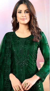 Green Net Designer Straight Cut Suit SURDAV3599031