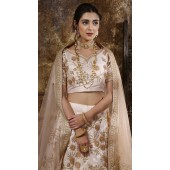 Peach Wedding Lehenga and Phantom silk choli fabric SURKFG21104
