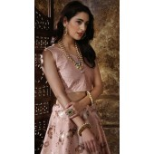 Dusty Peach Thai Silk Party Wear Girls Lehenga Girly Lehenga SURKFG41092