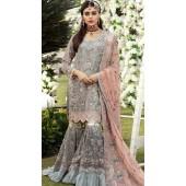 Grey Georgette Pakistani Palazzo Suit SURKR26599503