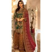 Green Georgette Pakistani Palazzo Suit SURKR26599504