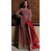 Red Georgette Bridal pakistani salwar suit SURSC018256