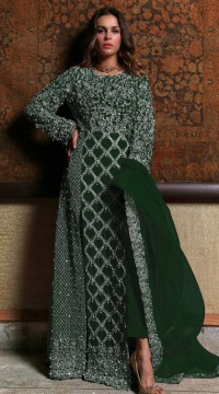 Green Georgette Bridal pakistani salwar suit SURSC018466