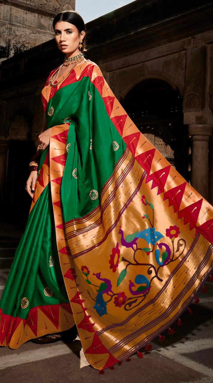 KMPSNHV16-1407 Traditional Silk Saree