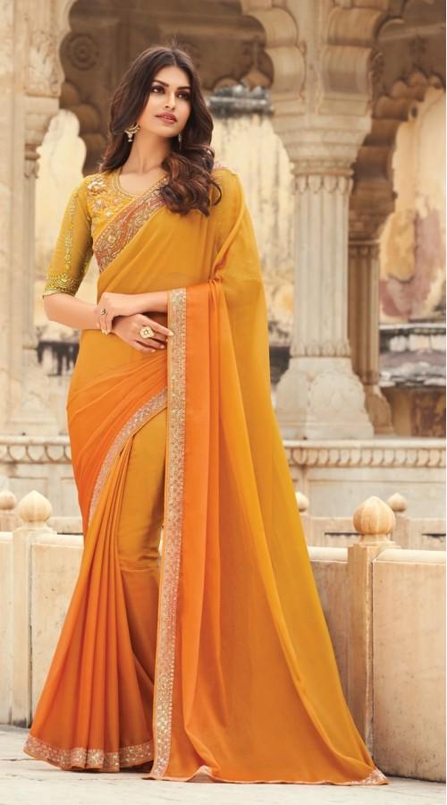 KEKIMPSW802 Orange Color Silk saree