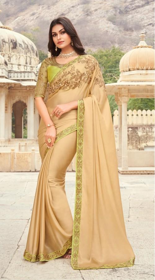 KEKIMPSW803 Golden Color Silk saree