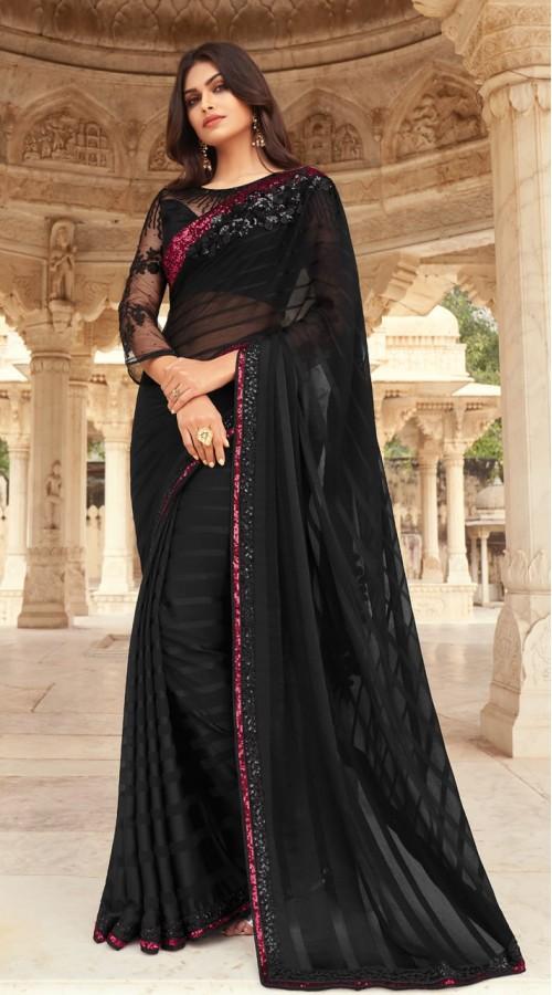 KEKIMPSW812 Black Color Silk saree
