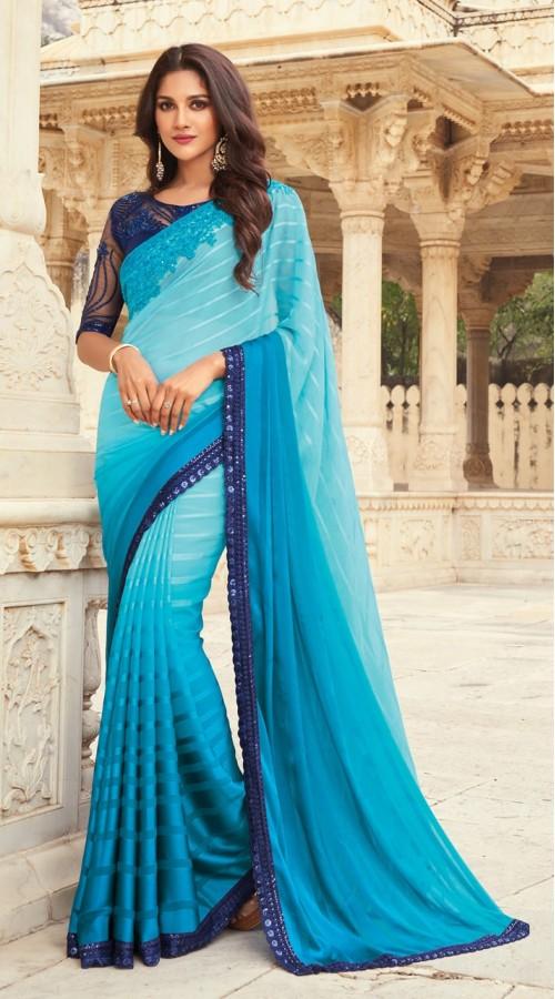 KEKIMPSW814 Light Blue Color Silk saree