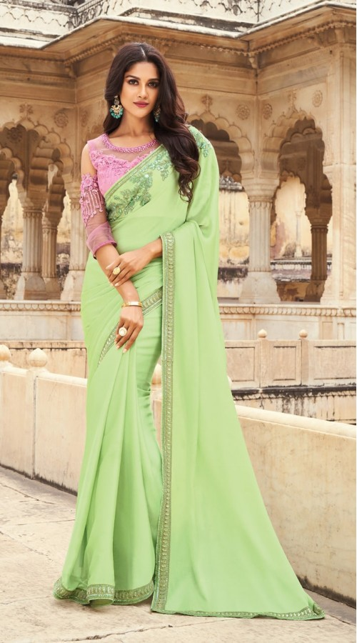 KEKIMPSW815 light green Color Silk saree