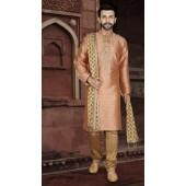 KSROTLK-34004 Traditional Indian Wear Long Kurta made from Jacquard Silk and Cotton Pant