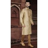 KSROTLK-34005 Traditional Indian Wear Long Kurta made from Jacquard Silk and Cotton Pant