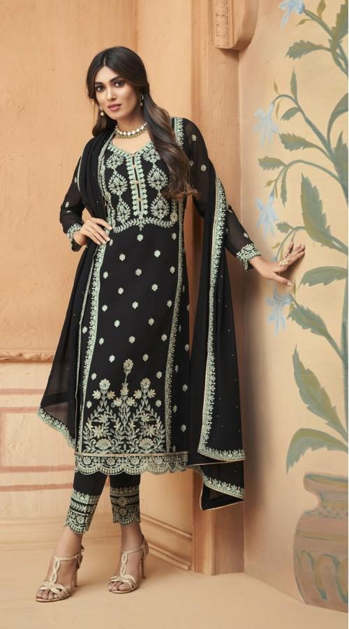 nfmhni96002 BLACK color Salwar kameez suit
