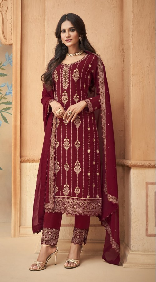 nfmhni96003 MAROON color Salwar kameez suit
