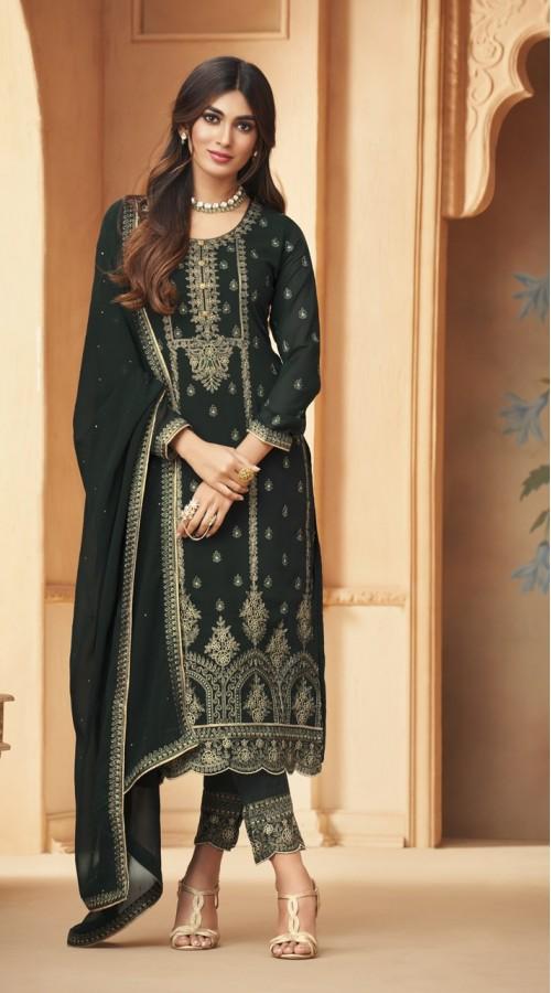 nfmhni96005 GREEN color Salwar kameez suit