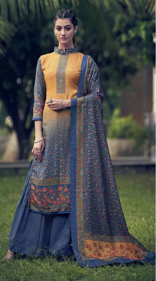 nfsmra2001 yellow and blue semi stitched Suit