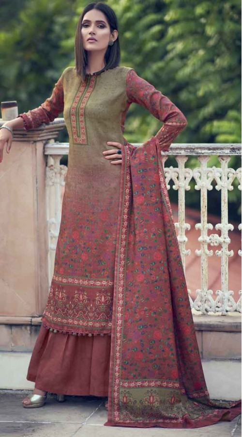 nfsmra2002 brown and pink semi stitched Suit