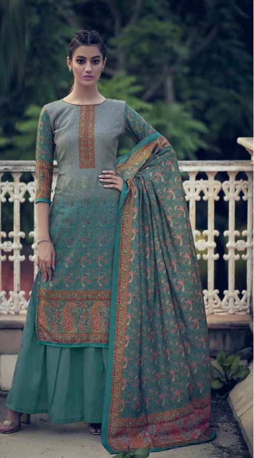 nfsmra2003 gray and rama semi stitched Suit