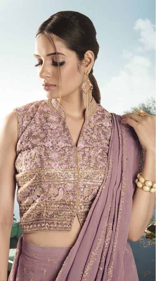 nfvny4-9906 Dark pink color Semi stitched Suit