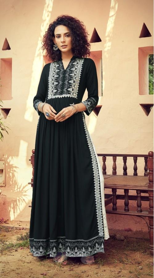 09mskn1100 Black Color Readymade kurti