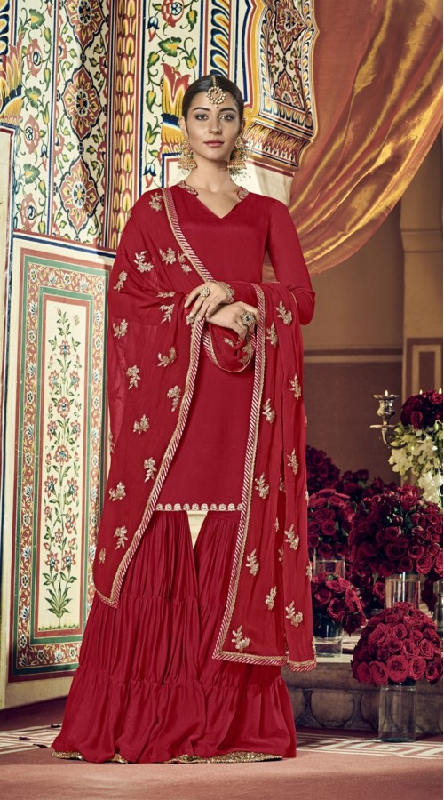 nfrvf101 Red Color Sharara Suit