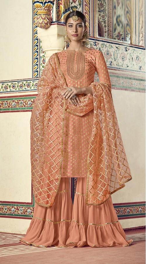 nfrvf102 Pink Color Sharara Suit