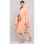 stylddm141-2947 Peach Color Semi Stitched Exclusive Designer Partywear Salwar Suit