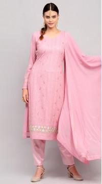 stylddm141-2948 Pink Color Semi Stitched Exclusive Designer Partywear Salwar Suit