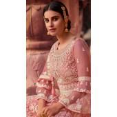 stylddm129-2861 Pink Color Semi Stitched Exclusive Designer Partywear Salwar Suit