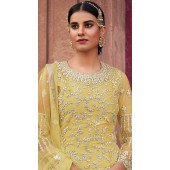 stylddm129-2863 Yellow Color Semi Stitched Exclusive Designer Partywear Salwar Suit