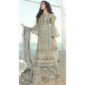 stylddm138-2919 Grey Color Exclusive Net Embroidered Suit