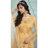 stylddm138-2922 Yellow Color Exclusive Net Embroidered Suit