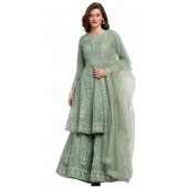 stylddm118-2787 Green color semi stitched Exclusive Designer Partywear Salwar Suit
