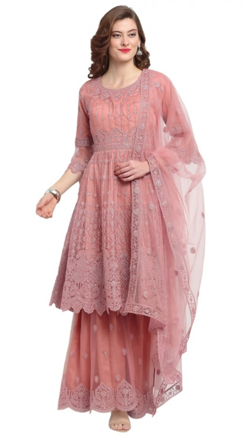 stylddm118-2788 Pink color semi stitched Exclusive Designer Partywear Salwar Suit