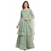 stylddm118-2793 Green color semi stitched Exclusive Designer Partywear Salwar Suit