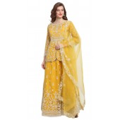 stylddm118-2794 Yellow color semi stitched Exclusive Designer Partywear Salwar Suit