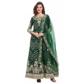 stylddm118-2796 Green color semi stitched Exclusive Designer Partywear Salwar Suit