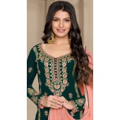 stylddm124-2831 Green color Semi Stitched Exclusive Designer Partywear Salwar Suit