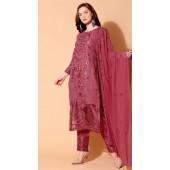 stylddm140-2934 Coral Color Semi Stitched Exclusive Designer Partywear Salwar Suit