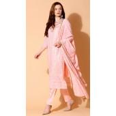 stylddm140-2936 Peach Color Semi Stitched Exclusive Designer Partywear Salwar Suit