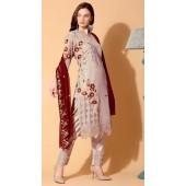 stylddm140-2937 Grey Color Semi Stitched Exclusive Designer Partywear Salwar Suit