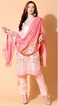 stylddm140-2942 Pink Color Semi Stitched Exclusive Designer Partywear Salwar Suit