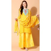 stylddm140-2943 Yellow Color Semi Stitched Exclusive Designer Partywear Salwar Suit
