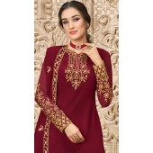stylddm149-2995 Maroon color Exclusive Georgette Embroidered suit