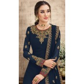 stylddm149-2996 Navy Blue color Exclusive Georgette Embroidered suit
