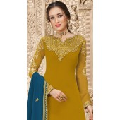 stylddm149-2997 Yellow color Exclusive Georgette Embroidered suit