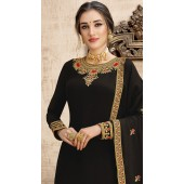 stylddm149-2998 Black color Exclusive Georgette Embroidered suit